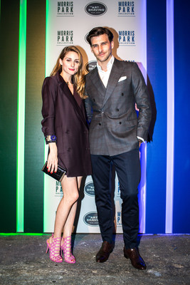 The Art of Shaving celebrates the launch of the Morris Park Collection Razor with Olivia Palermo and Johannes Huebl in New York City. Photo: Ben Draper Photography