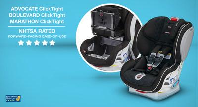 NHTSA Awards Five-Star Rating to Britax ClickTight Convertible Car Seats
