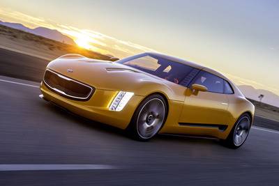 Kia's High-Powered GT4 Stinger Concept Makes World Debut in Detroit