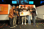 McDonald's Flavor Battle Champion DJ Element of Brooklyn, N.Y., wins $10,000 and celebrates victory in Miami Beach with 2012 Flavor Battle winner DJ Risk One, spin veterans/beatsmiths Just Blaze, DJ Clue and Spinderella and McDonald's U.S. Marketing Director Rob Jackson. McDonald's Flavor Battle is a national DJ competition that features some of America's hottest up-and-coming mix-masters and beatsmiths. (PRNewsFoto/McDonald's USA, LLC) (PRNewsFoto/MCDONALD'S USA_ LLC)