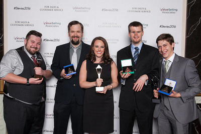 The LiveWatch team accepts its awards on March 4, 2016.