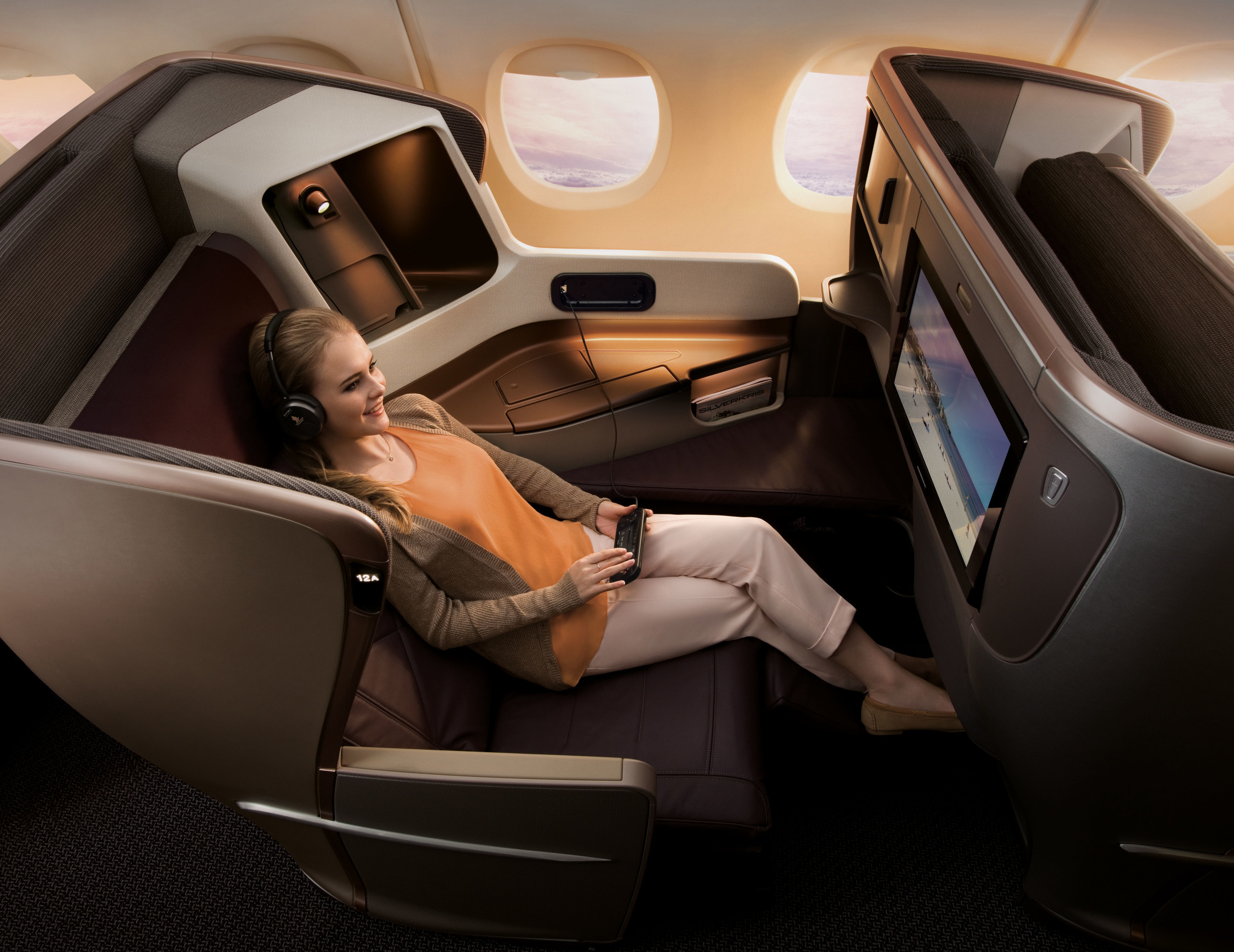 Beginning October 23, 2016, all flights from SFO and LAX will feature SIA's newest, next-generation aircraft interiors and seating in each cabin (pictured: Business Class).