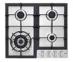 24″ Gas Cooktop (HCC2230AGS) with stainless steel finish