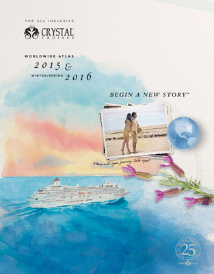The cover of the 2015-early 2016 Crystal Cruises Atlas. (PRNewsFoto/Crystal Cruises) (PRNewsFoto/CRYSTAL CRUISES)