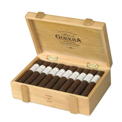 Gurkha Cigars Cellar Reserve 15-Year. Rated 99  The Gurkha Cellar Reserve is an absolutely flawless cigar. It uses the finest quality 15-year-aged tobacco comprised of an oily Criollo 1998 wrapper that combines an aged Dominican olor binder with a 15-year-old Dominican filler. Housed in unique wooden boxes that aesthetically evoke a maturing wine barrel, the Cellar Reserve is a delicious medium- to full-bodied cigar that is full of flavor and complexity. It is incredibly worth the demand it commands...