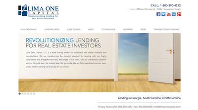 New Lima One Capital Website.  (PRNewsFoto/Lima One Capital)