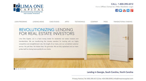 Hard Money Lender Lima One Capital Launches New Website