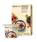 New thinkThin(R) Protein & Fiber Hot Oatmeal is made with wholesome super grains of whole rolled oats, steel cut oats, sprouted grains and quinoa and is sold as a multi-pack box of six packets or a single serving bowl. Each serving of thinkThin Protein & Fiber Hot Oatmeal is packed with 10g of protein, 5g of fiber and is 200 calories or less. thinkThin Lean Protein & Fiber Hot Oatmeal is now available at major retailers, select grocery stores and online. Visit www.thinkproducts.com for more information.