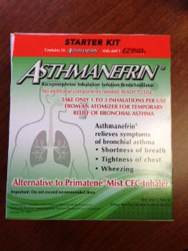 Asthmanefrin(R) Starter Kit.  (PRNewsFoto/Nephron Pharmaceuticals Corporation)