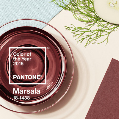 Pantone Reveals Color of the Year for 2015: PANTONE 18-1438 Marsala