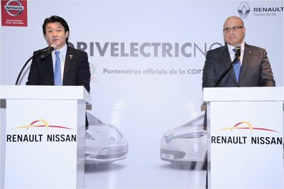 Isao Sekiguchi, Managing Director North Africa Region and Egypt for Nissan Group and Marc Nassif, Managing Director Renault Group in Morocco. Photographer: Addendum. (PRNewsFoto/Renault-Nissan Alliance)