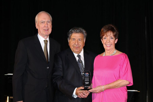 Candy B. Ross, Director of Industry and Professional Relations, KaVo Kerr Group, NA Equipment, accepts the 2013 Steven W. Kess Give Kids A Smile Corporate Volunteer Award. Pictured with Ms. Ross are (L) Dr. David Whiston, ADA Foundation President, and Steven W. Kess, Vice President, Global Professional Relations, Henry Schein, Inc.  (PRNewsFoto/Henry Schein, Inc.)