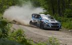 Subaru Driver David Higgins Secures 4th Consecutive Rally America Championship with Win at New England Forest Rally. (PRNewsFoto/Subaru of America, Inc.)
