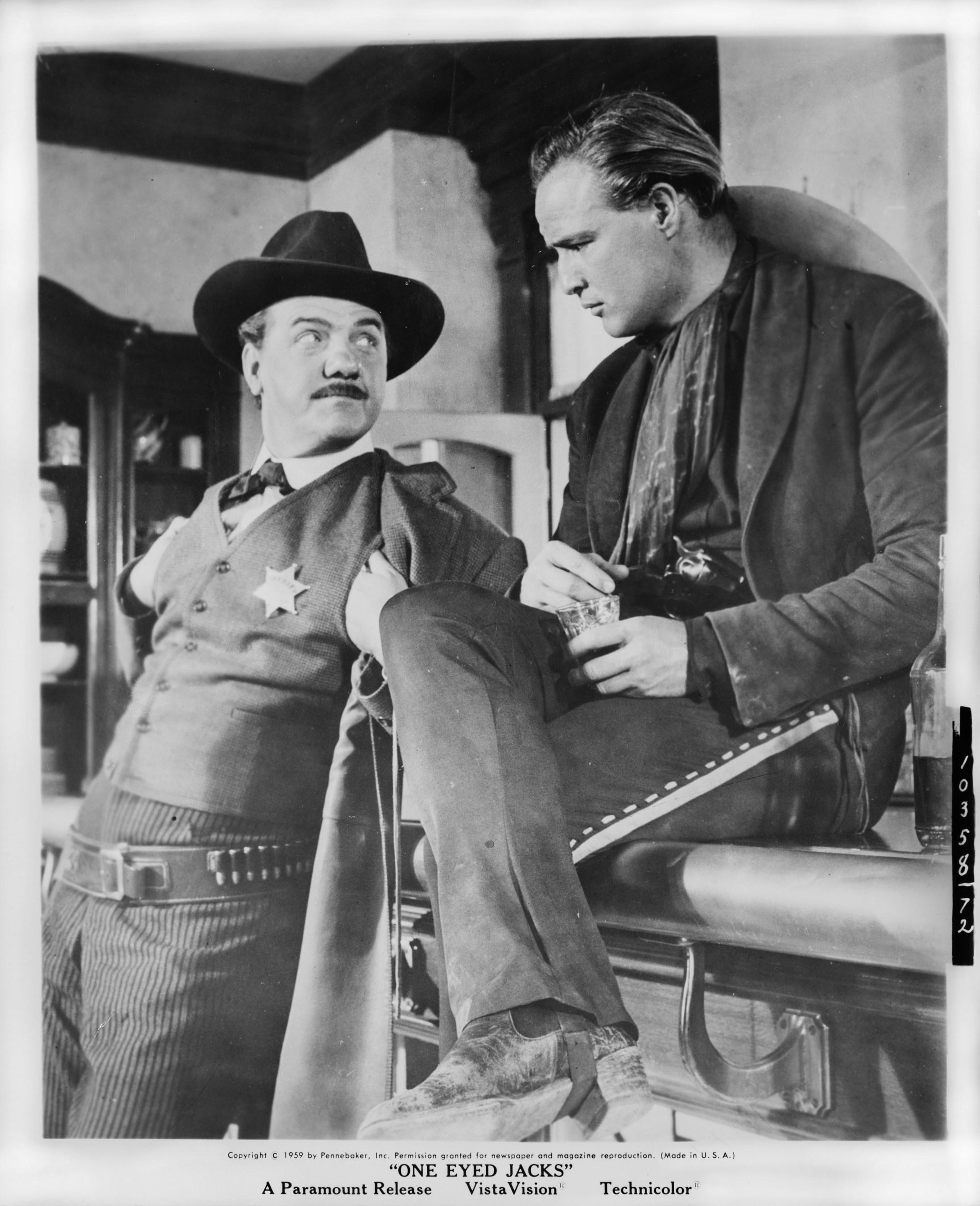 Karl Malden and Marlon Brando in One-Eyed Jacks