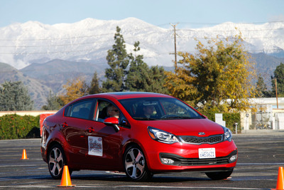 Kia Motors America Partners With B.R.A.K.E.S. Teen Pro-Active Driving Course To Provide Hands On Defensive Driving Instruction.  (PRNewsFoto/Kia Motors America)
