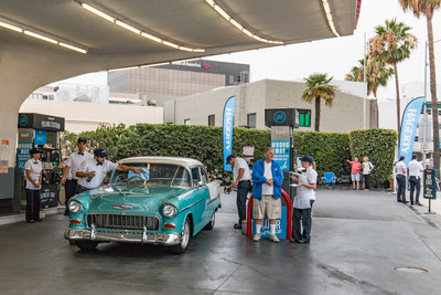 Owner Mike Novins and 1955 Chevrolet Bel Air from Northridge, CA purchased gas for 29 cents per gallon.
