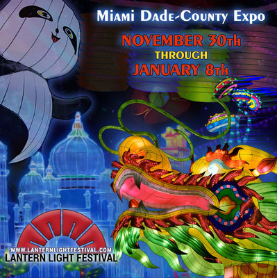Come experience the beauty and pageantry of a Chinese tradition that started over 2,000 years ago. From November 30 to January 8 at the Miami-Dade County Fair Expo Center, the Lantern Light Festival presents a spectacular kaleidoscope of colors, structures and themes. Eighty artisans needed 3 months to design and build these hand-crafted, massive lanterns. Some are up to 30 feet high and others are up to 300 feet long. The Lantern Light Festival is an opportunity to witness the majestic skill of the world's best lantern-makers. www.lanternlightfestival.com