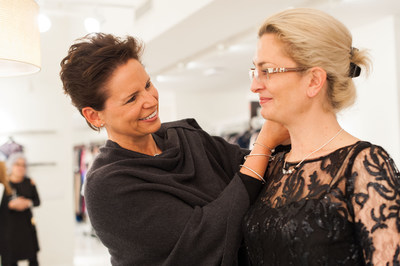 Chief Merchandising Officer, Beth Moeri, personally styles women in PANDORA Jewelry in preparation for the upcoming Dress for Success(R) Give Confidence, Hope, Style Gala 2016.