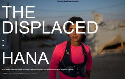 """The Displaced,"" as featured in The New York Times Magazine cover story, now being developed by Killer Content/Killer Films."