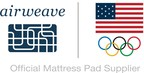 airweave is the official mattress pad supplier of the U.S. Olympic Committee