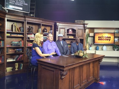 Ch 12 AZ Midday segment on sleep apnea and RemZzzs? (People in the pic: L to R - Host Destry Jetton, Bob Rutan, Carl Eller, Roy Green)
