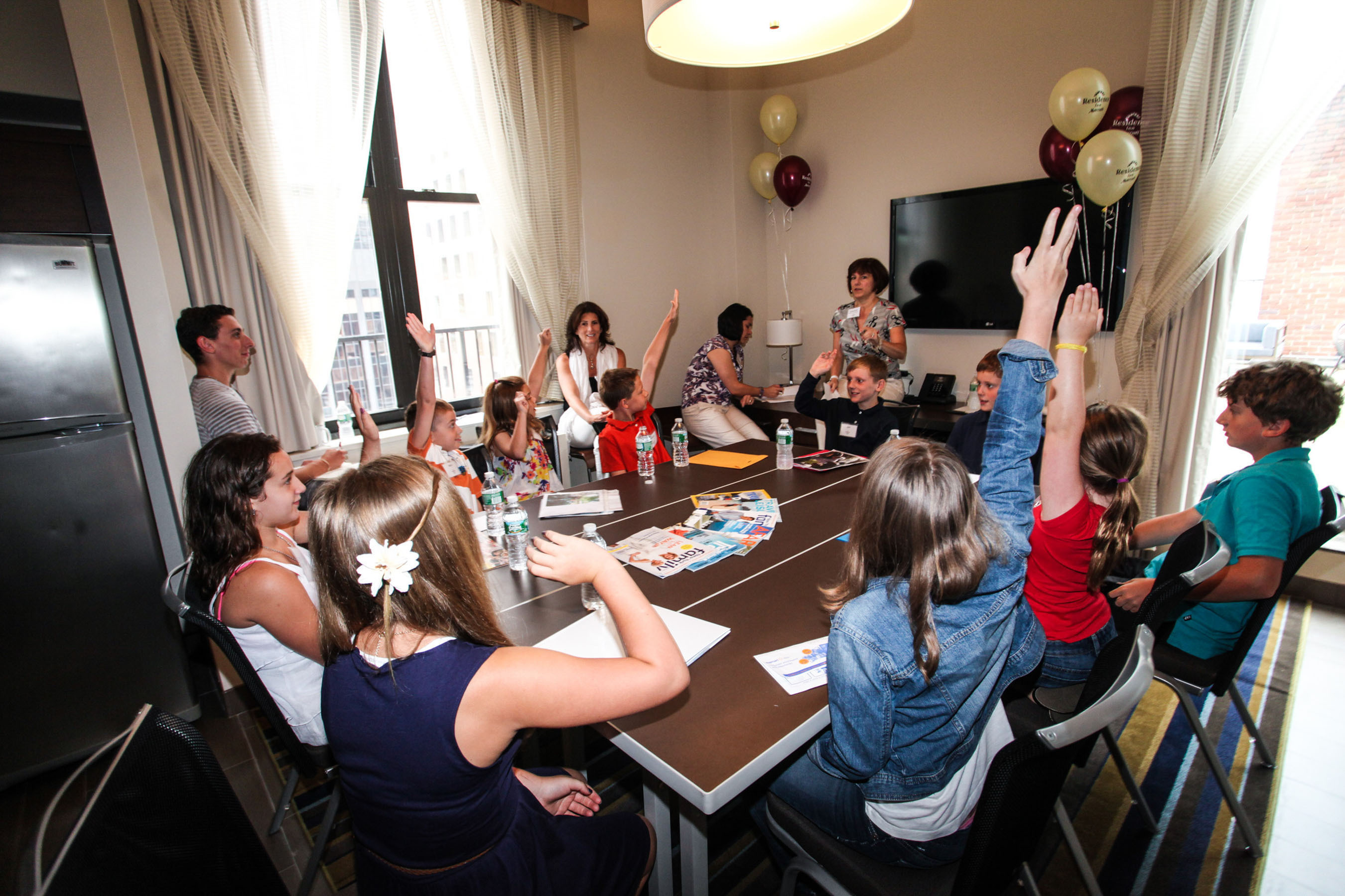 Residence Inn hosted the first-ever Kids Roundtable on Travel on August 3.  (PRNewsFoto/Residence Inn by Marriott)