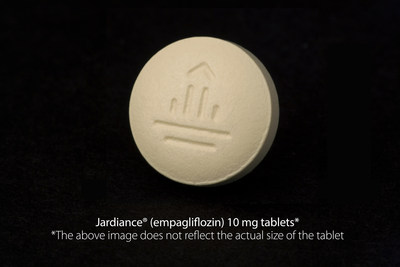 Jardiance (R)  (empagliflozin) 10 mg tablets* *The above image does not reflect the actual size of the tablet (PRNewsFoto/Eli Lilly and Company)