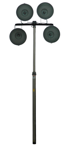 The PLM-18-4X1000W telescoping pneumatic light tower allows operators to quickly and safely deploy 4,000 watts ...