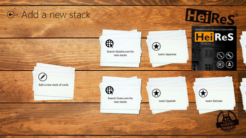 Take a look at the countless stacks of other community members or add your own stack of cards. (PRNewsFoto/Heinrich & Reuter Solutions GmbH) (PRNewsFoto/HEINRICH & REUTER SOLUTIONS GMBH)