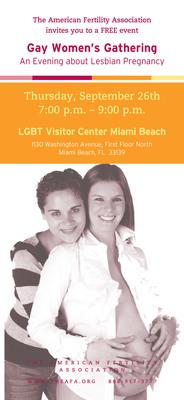 Gay Women's Gathering Comes to Miami Beach.  (PRNewsFoto/The American Fertility Association)