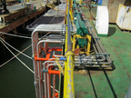 HELIX ENERGY SOLUTIONS GROUP M/V CAESAR: Installed hydraulic piping required for two side-mounted thrusters.  (PRNewsFoto/Power Dynamics LLC)