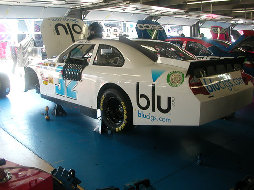 "blu Cigs ""Smokes"" the Competition: Sponsors NASCAR Sprint Cup Driver Mike Bliss in Coca-Cola 600 Memorial Day Weekend Race.  (PRNewsFoto/blu Cigs)"