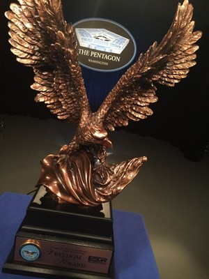 Goodyear named recipient of the prestigious 2016 Secretary of Defense Employer Support Freedom Award (pictured) for its exceptional support of Guard and Reserve employees.