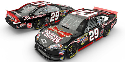 "This Friday, Sept. 23, Budweiser employees around the United States will celebrate Global Be(er) Responsible Day, a day of outreach to encourage the use of designated drivers. NASCAR driver Kevin Harvick is helping spread the message and will debut a special ""Designate a Driver"" paint scheme for Sunday's race at New Hampshire Motor Speedway. Visit Budweiser's Facebook page (www.facebook.com/Budweiser) to watch a video from Harvick about Be(er) Responsible Day, when more than 1,500 Anheuser-Busch employees across the U.S. will join local wholesalers to encourage the use of designated drivers. Adults can also take the pledge on Budweiser's Facebook page to be, or use, a designated driver. Thousands of consumers who take the pledge will be eligible, where legal, to win a Budweiser hat with a designated driver message."