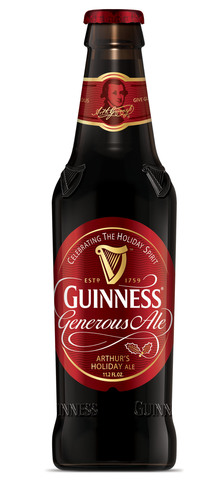'Tis the Season to Give With New GUINNESS(R) Generous Ale.  (PRNewsFoto/Diageo)