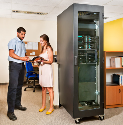 AcoustiRACK(TM) Active - A Silent Server Room in your open space(PRNewsFoto/Silentium) (PRNewsFoto/Silentium)