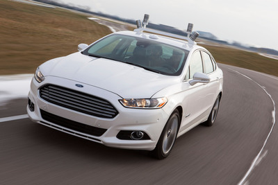 Building on the automated Ford Fusion Hybrid research vehicle unveiled last month, Ford is announcing new projects with Massachusetts Institute of Technology and Stanford University to research and develop solutions to some of the technical challenges surrounding automated driving.  (PRNewsFoto/Ford Motor Company)