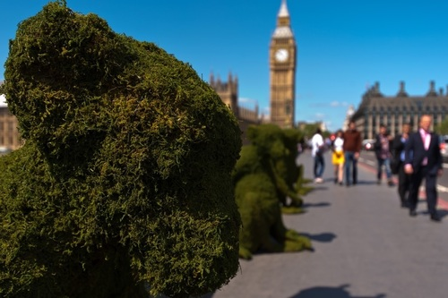 The Body Shop Transforms Westminster Bridge To raise Awareness Of Bio-Bridges. Credit: Getty Images for The ...