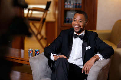 """Academy Award winner Cuba Gooding Jr. on the set of the Pepsi """"Mini Hollywood"""" ad shoot in Los Angeles. (PRNewsFoto/PepsiCo) (PRNewsFoto/PEPSICO)"""
