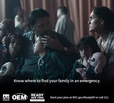 Start your emergency plan. Visit NYC.gov/ReadyNY or call 311 (PRNewsFoto/Ad Council)