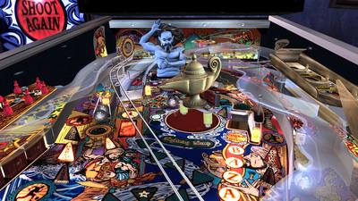Screenshot of The Pinball Arcade on an Xbox 360.
