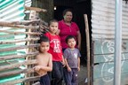 One of the countless families in Ahuachapan, El Salvador living in a rural shack slum.