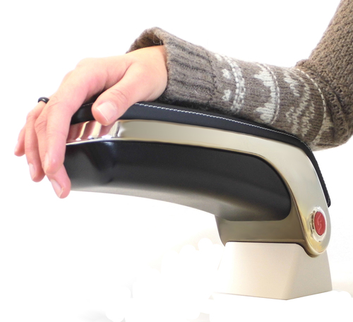 3D printed end-use armrest for an aircraft and racing vehicle made from Stratasys ULTEM 9085. (PRNewsFoto/Stratasys Ltd.) (PRNewsFoto/STRATASYS LTD.)