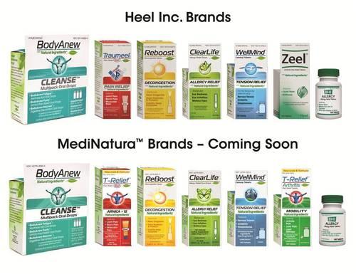Comparison of Heel Inc. Brands and MediNatura Brands (Coming Soon) (PRNewsFoto/MediNatura Inc.)