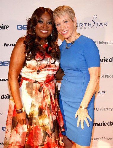 Star Jones and Barbara Corcoran following her keynote speech  (PRNewsFoto/NAPW)