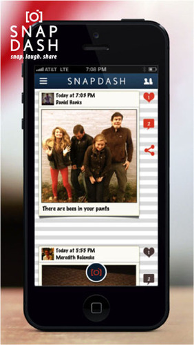 SnapDash is a photo-sharing game for iPhone that brings spontaneity back to taking photos with friends.  (PRNewsFoto/SnapDash)