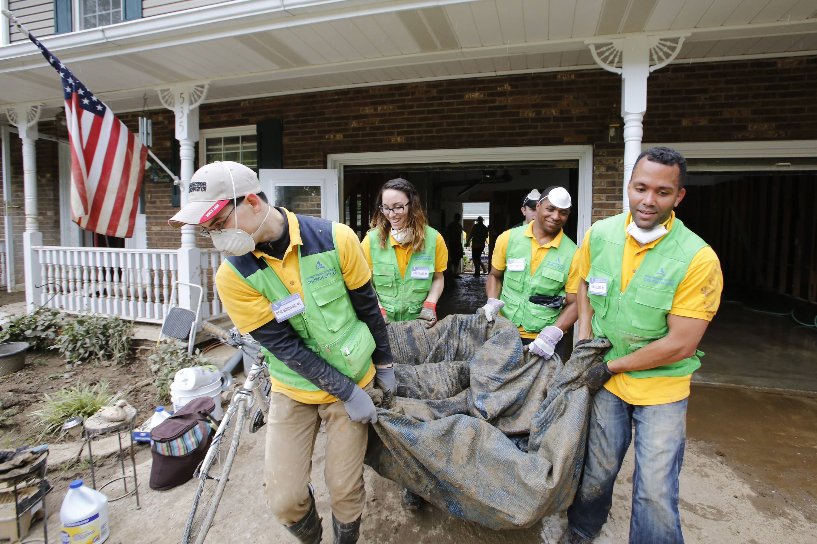 Church of God volunteers are trained first-responders who have helped in numerous disaster relief efforts on the East Coast.