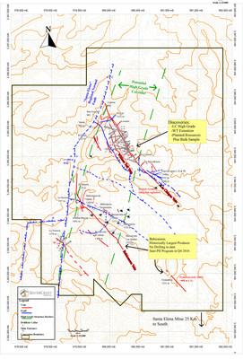 SilverCrest Metals Inc. Sonora, Mexico - Las Chispas Project - Figure 1 Las Chispas Wide Discovery Map