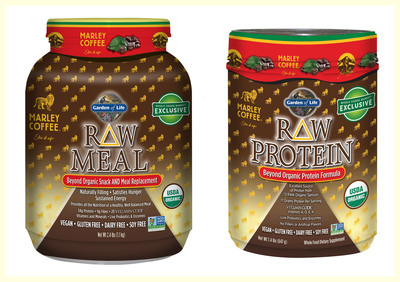 Garden of Life Marley Coffee Raw Meal and Raw Protein.  (PRNewsFoto/Garden of Life, LLC)