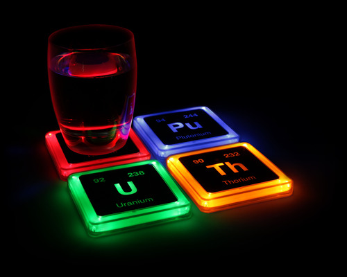 Radioactive Light Up Coasters from ThinkGeek.com.